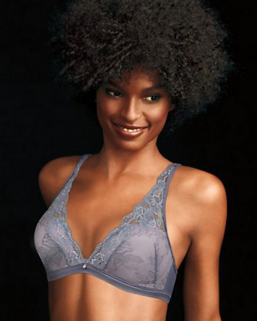 Maidenform ML7962 Fit to Flirt Wirefree Plunge Allover Lace Bra