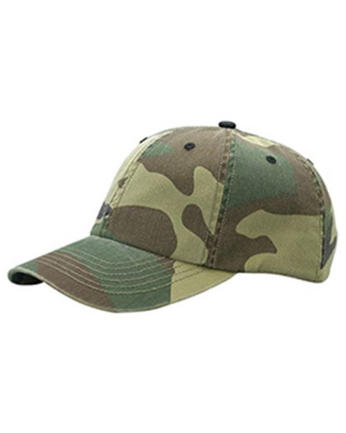 Mega Cap 9031 Enzyme Washed Camo Cap