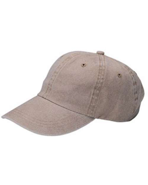 Mega Cap MC7601 Pigment Dyed Garment Washed Cap