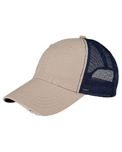 Mega Cap 6887 Organic Washed Cotton Mesh Cap