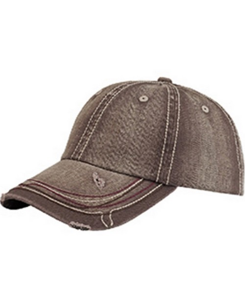 Mega Cap 6890 Heavy Washed Herringbone Distressed Cap