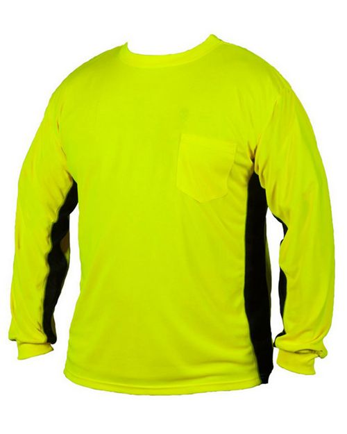Ml Kishigo 9202-9203 Premium Black Series Long Sleeve Hi-Viz T-Shirt