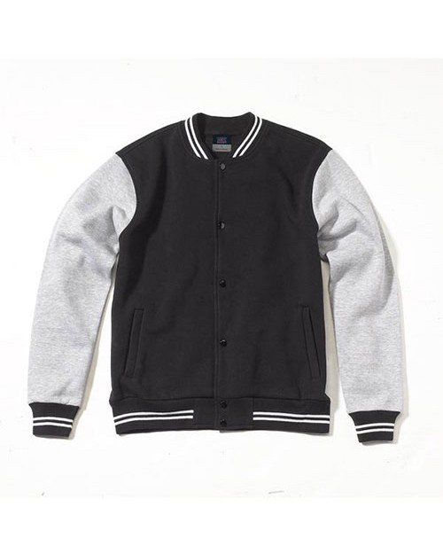 Mv Sport 2369 Mens Varsity Sweatshirt Jacket