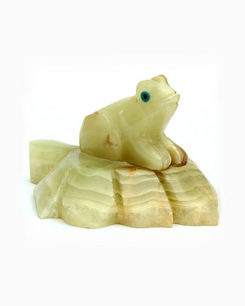 Natures Artifacts Multi-Green Onyx Spirit Animal - Frog 3 Inch