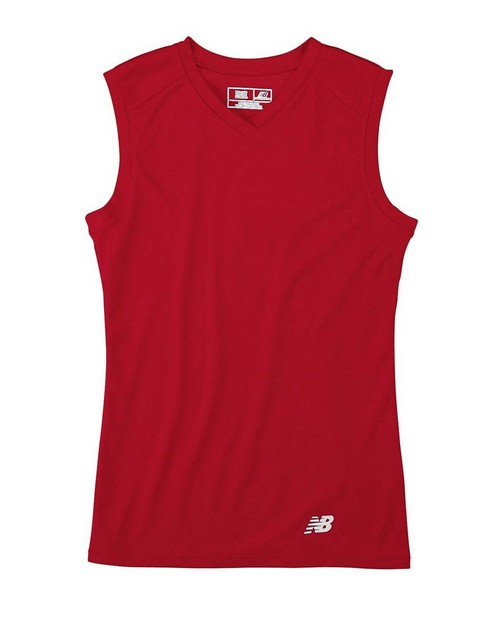 New Balance N7117L Ladies Ndurance Athletic V-Neck Workout T-Shirt