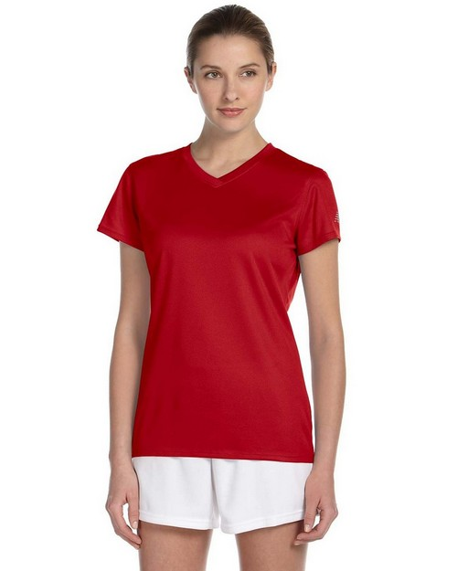 New Balance N7118L Ladies Ndurance Athletic V-Neck T-Shirt