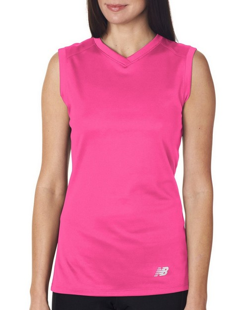 New Balance NB7117L Ladies NDurance Athletic Workout V-Neck T-Shirt