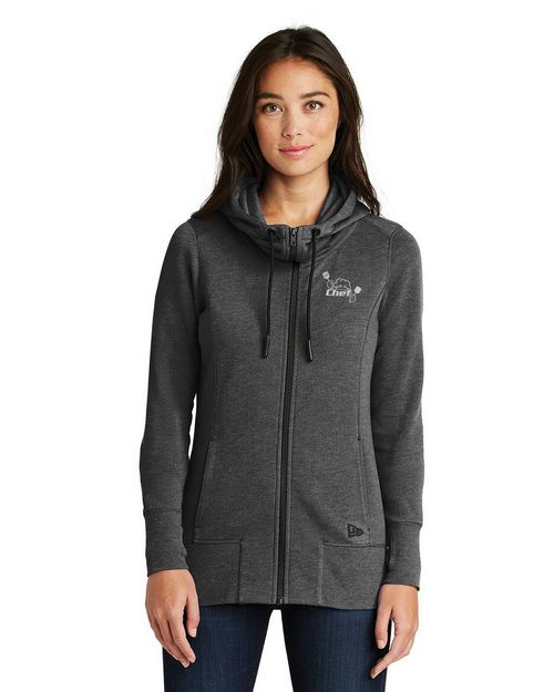 Logo Embroidered New Era Custom Logo Embroidered Full Zip Hoodie - For Women