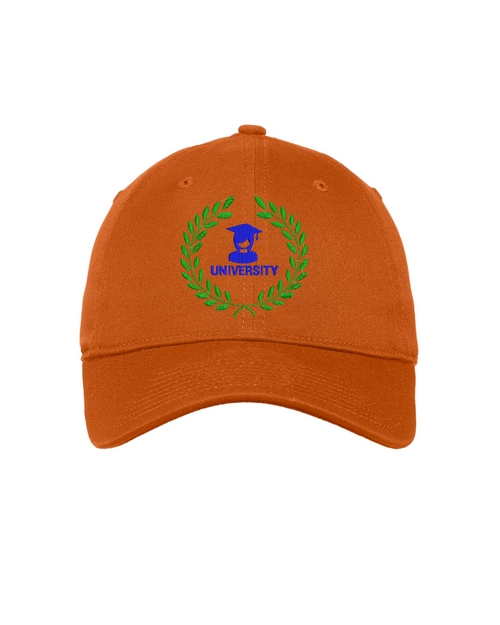 New Era Logo Embroidered Unstructured Stretch Cotton Cap
