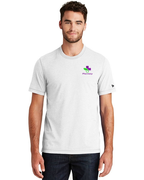 New Era Custom Logo Embroidered Crew T-Shirt - For Men