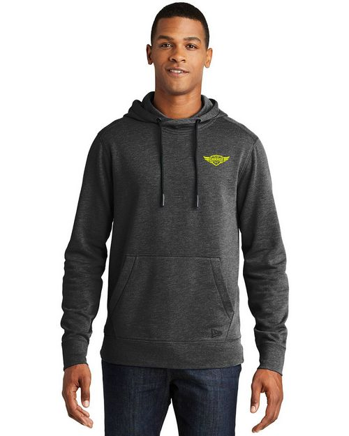 New Era NEA510 Mens Tri Blend Fleece Pullover Hoodie