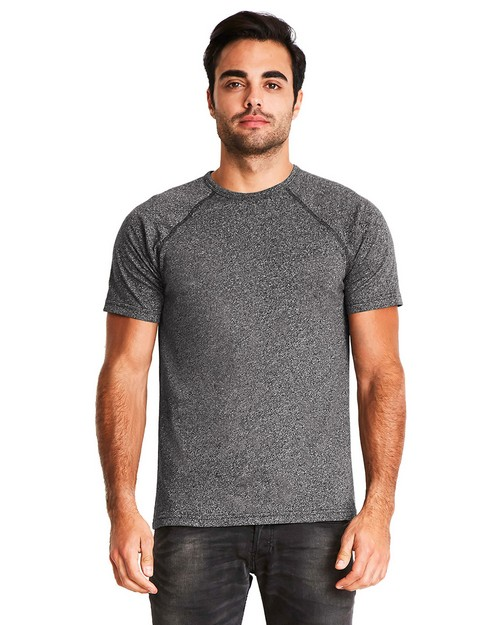 Next Level 2050 Mens Mock Twist Short-Sleeve Raglan T-Shirt