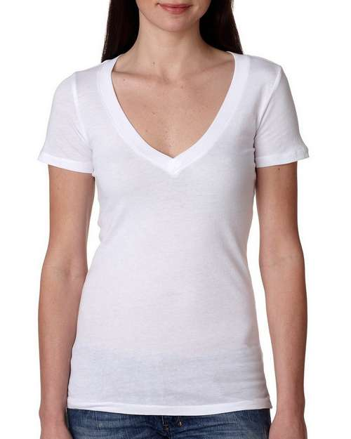 Next Level 3540 Ladies Deep V-Neck Tee
