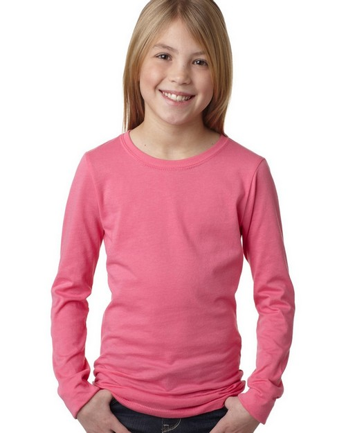 Next Level 3711 NL Girls Long Sleeve Tee