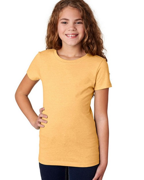 Next Level 3712 Girls Princess CVC Tee