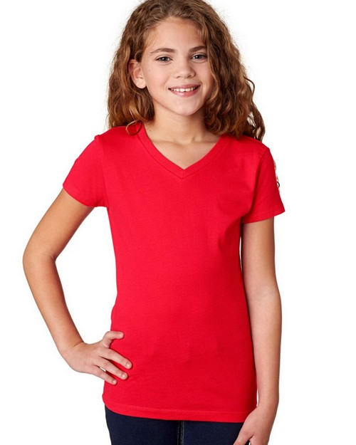 Next Level 3740 Girls Adorable V-Neck Tee