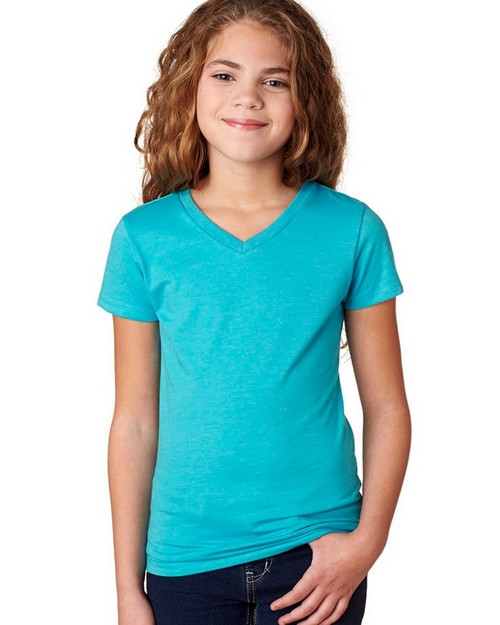 Next Level 3742 Girls Adorable CVC V-Neck Tee