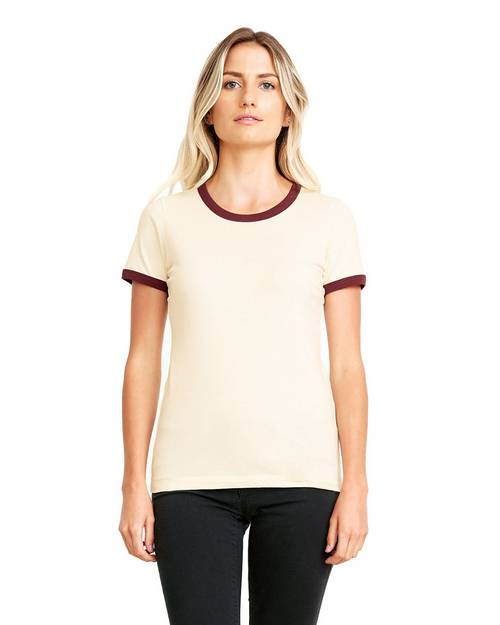 Next Level 3904 Ladies Ringer T-Shirt
