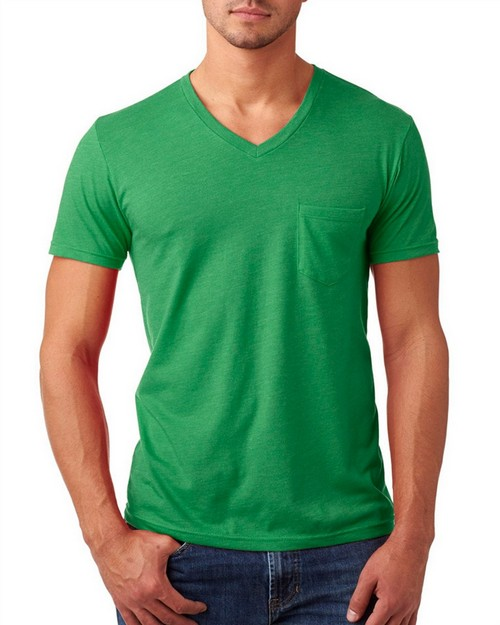 Next Level 6245 Mens CVC Tee with Pocket