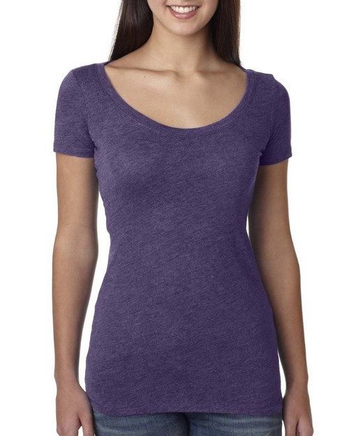 Next Level 6730 Ladies Triblend Scoop Tee