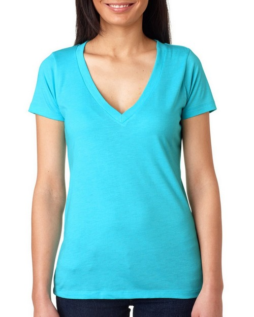Next Level 6740 Ladies Triblend Deep-V Tee