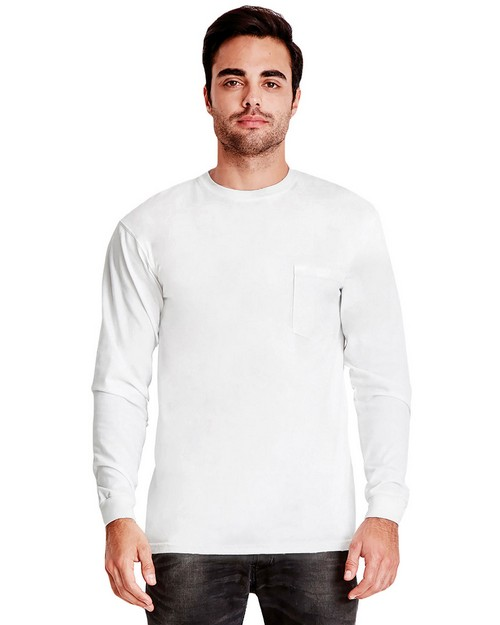 Next Level 7451 Adult Inspired Dye Long-Sleeve Crew with Pocket