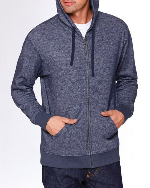 Next Level 9600 Unisex Denim Fleece Full Zip Hoodie