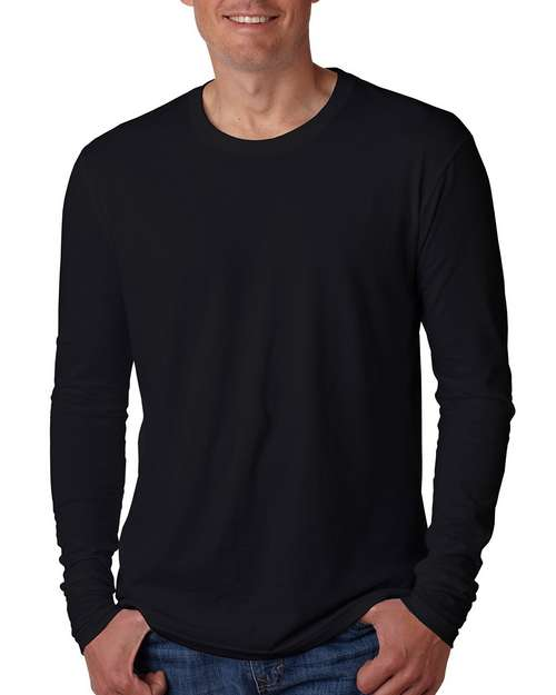 Next Level N3601 Mens Premium Fitted Long Sleeve Crew Tee