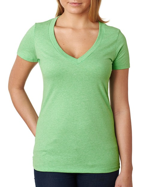 Next Level NL6640 Ladies Cvc Deep V-Neck Tee