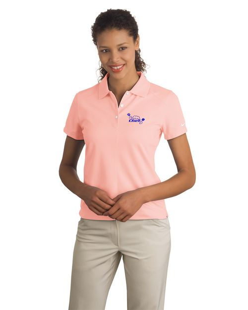 Logo Embroidered Nike Golf Dri-FIT Pique II Logo Embroidered Polo Shirt - For women