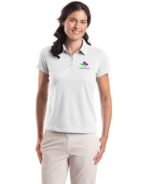 Nike Golf Dri-FIT Pebble Texture Logo Embroidered Polo Shirt - For Women