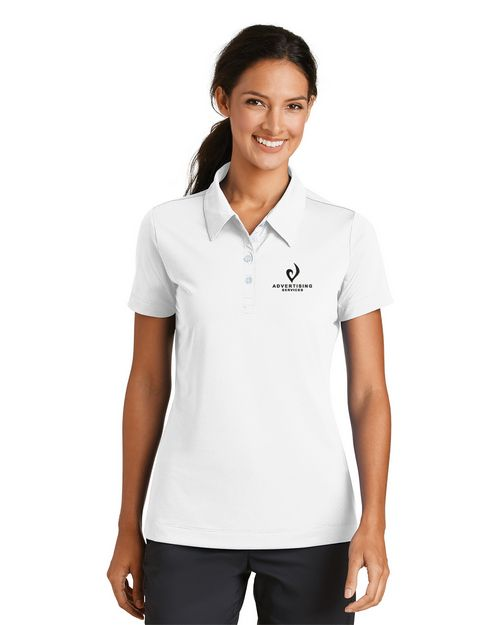 Nike Golf Nike Sphere Dry Diamond Logo Embroidered Polo Shirt - For Women