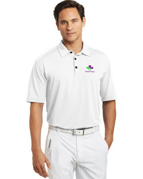 Logo Embroidered Nike Golf Dri-FIT Mini Texture Polo Shirt - For Men