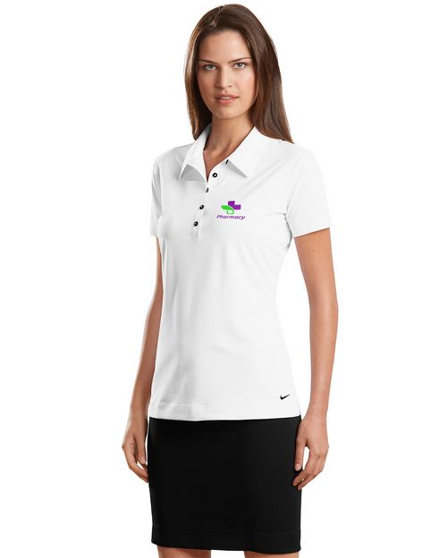 Nike Golf Elite Series Ottoman Bonded Polo Shirt - For Women- Logo Embroidered