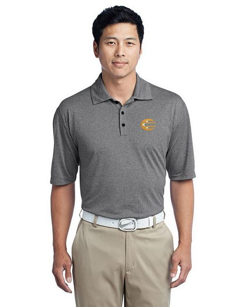 Nike Golf Dri FIT Heather Polo Shirt - For Men - Logo Embroidered