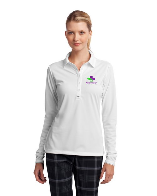 Nike Golf Long Sleeve Dri-FIT Stretch Tech Logo Embroidered Polo Shirt - For women