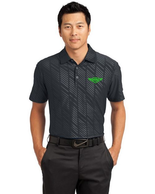 Nike Golf Dri FIT Logo Embroidered Embossed Polo Shirt - For Men