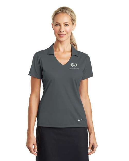 Logo Embroidered Nike Golf Dri-FIT Logo Embroidered Polo Shirt- For Women