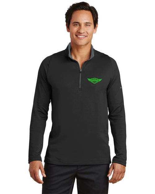 Logo Embroidered Nike Golf Dri-FIT 1/2 Zip Logo Embroidered Cover-Up - For Men