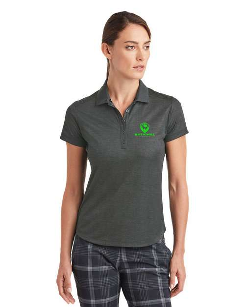 Nike Golf Dri-FIT Custom Logo Embroidered Crosshatch Polo Shirt - For Women