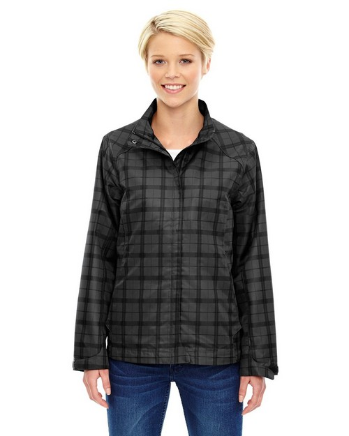 North End Sport Blue 78671 Locale Ladies Lightweight City Plaid Jacket