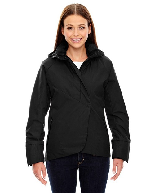 North End Sport Blue 78685 Skyline Ladies Jackets with Heat Reflect Technology