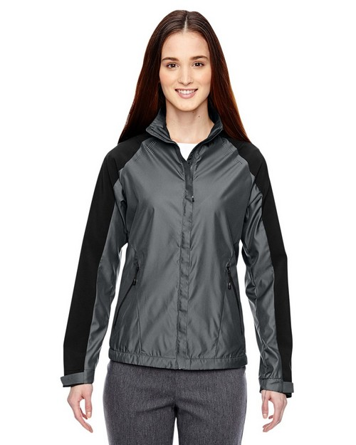 North End Sport Blue 78695 Borough Ladies Lightweight Jacket With Laser Perforation