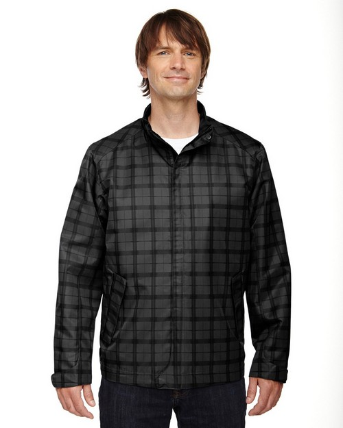 North End Sport Blue 88671 Locale Mens Lightweight City Plaid Jacket