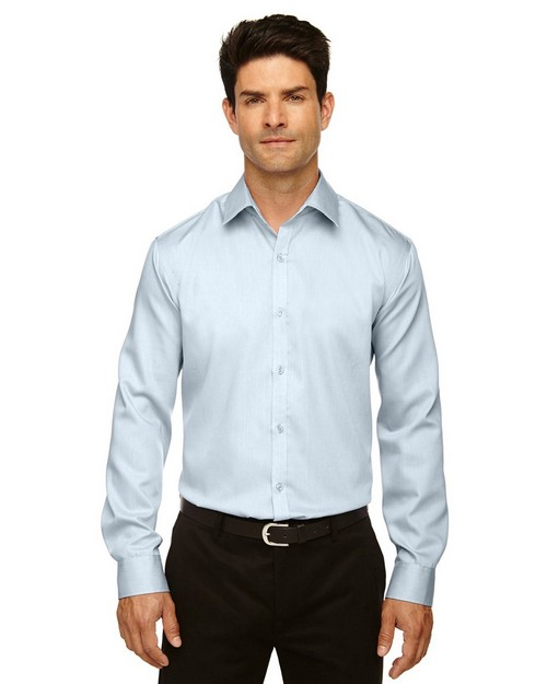 North End 88673 Boulevard Mens Cotton Dobby Taped Shirt