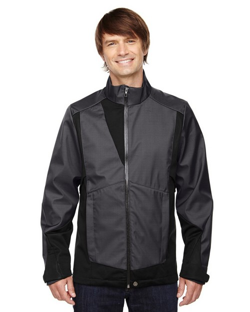 North End Sport Blue 88686 Commute Mend Two-Tone Soft Shell Jacket