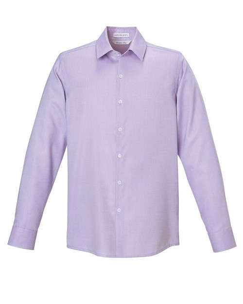 North End Sport Blue 88689 Refine Mens Cotton Royal Oxford Dobby Taped Shirt