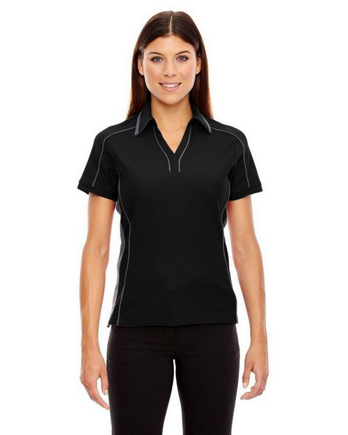 North End 78648 Ladies' Sonic Performance Polyester Pique Polo