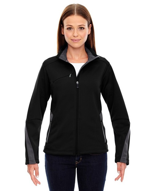 North End Sport Red 78649 Ladies' Escape Bonded Fleece Jacket