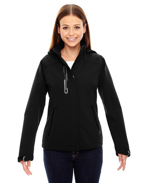 North End 78665 Ladies' Axis Soft Shell Jacket with Print Graphic Accents